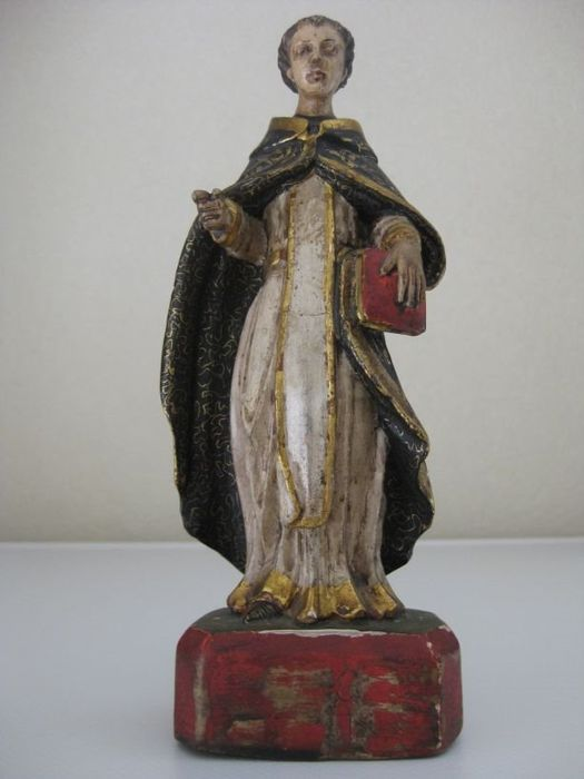 Sculpture, Statuette of a priest - Wood - 18th century