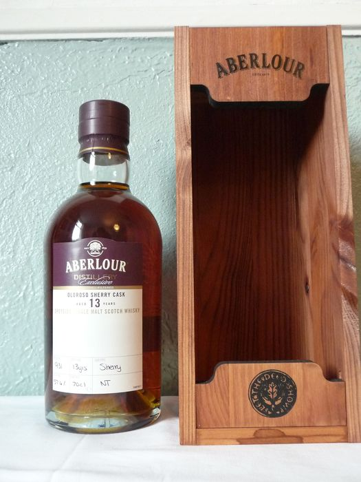 Aberlour 13 years old Distillery Exclusive - hand filled - Oloroso Sherry cask - Original bottling - 70cl