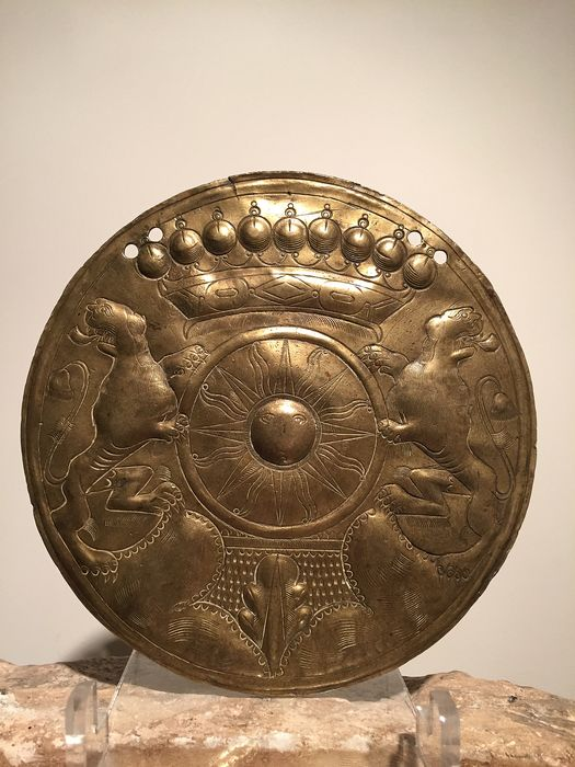 Plaque - Folk Art - Brass - 17th century