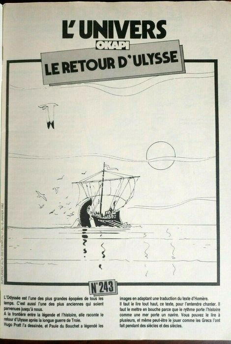 "Hugo Pratt - ""Le Retour d'Ulysse"" - Softcover - First edition - (1982)"