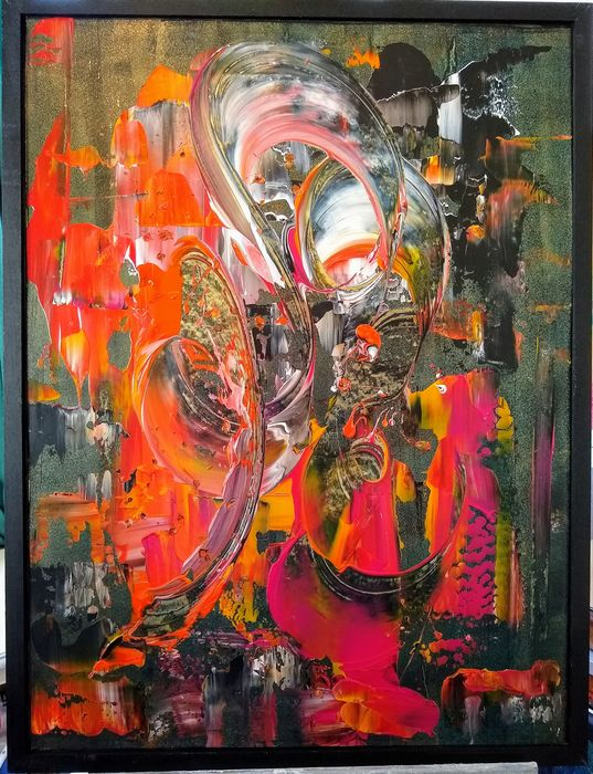 Sietse Art Paintings - the healing colours into the red
