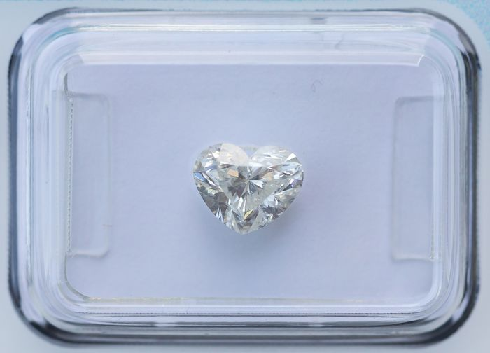 Diamond - 1.02 ct - Heart - I - I1, IGI Antwerp - No Reserve Price