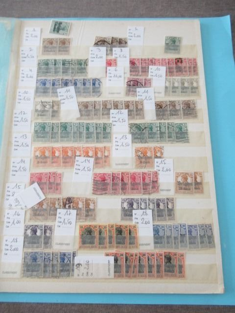 België - Duitse bezetting - Significant bulk batch of stamps