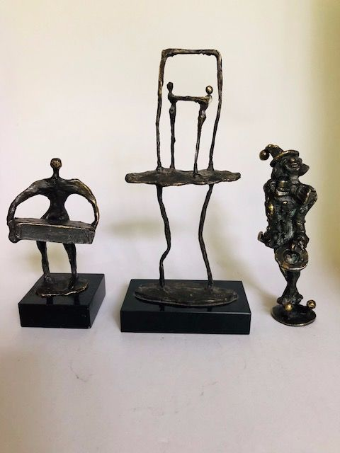 Corry Ammerlaan - 3 bronze statues - signed (3)