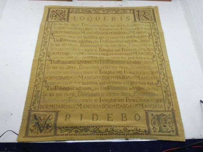 Tapestry Loqueris-Ridebo from Horatius  - Dark Thread On Gold
