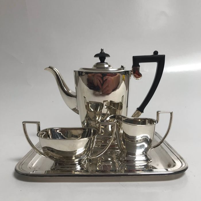 Coffee and tea service (4) - Silverplate - Van Kempen & Begeer - Netherlands - Late 19th century