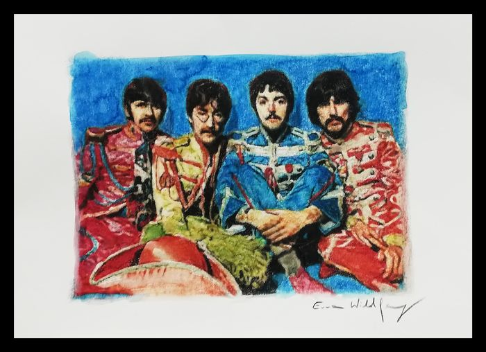 Beatles - Sgt. Pepper -  by Artist Emma Wildfang - Artwork/ Painting, Aquarelle  - 2019/2019