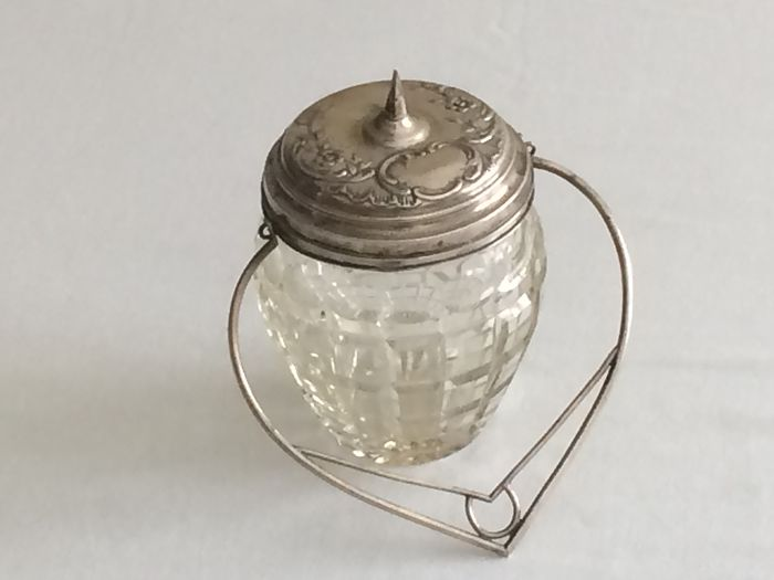 SILVER and Crystal Candy Box (1938 -1984) - Silver - Portugal - mid 20th century