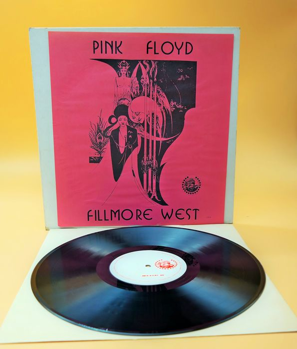"Pink Floyd - Fillmore West /Very Very Rare Plain ""White Label  1970"" !!!!!! - LP Album - 1973"