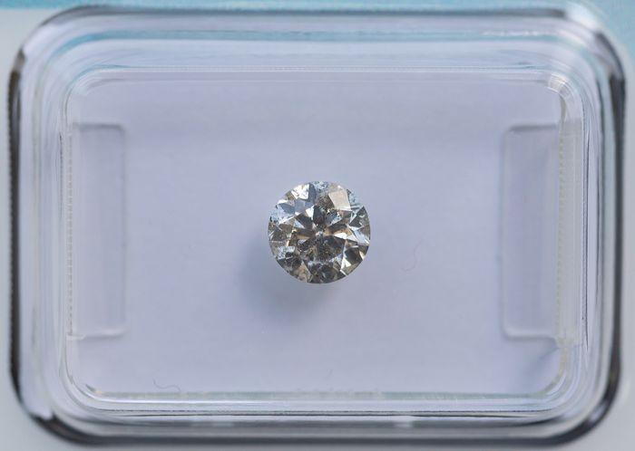 Diamante - 0.50 ct - Brillante - K - I2, IGI Antwerp - No Reserve Price