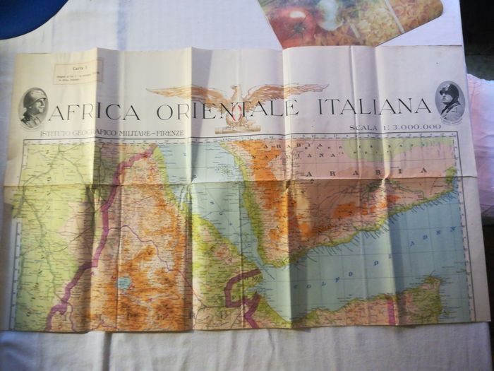 Italy - Tome of the war ministry for military preparation in Africa. - 1939