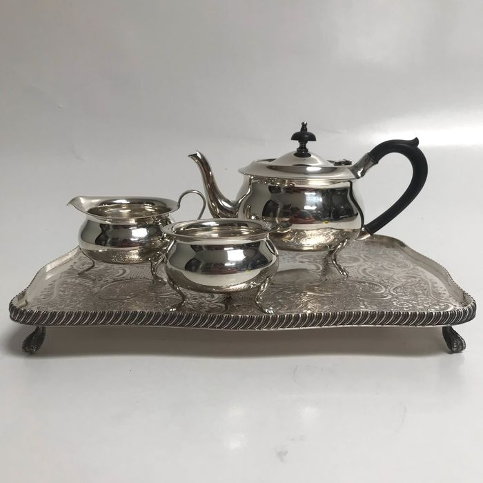Tea service (4) - Silverplate - Yeoman silver plated  - U.K. - First half 20th century