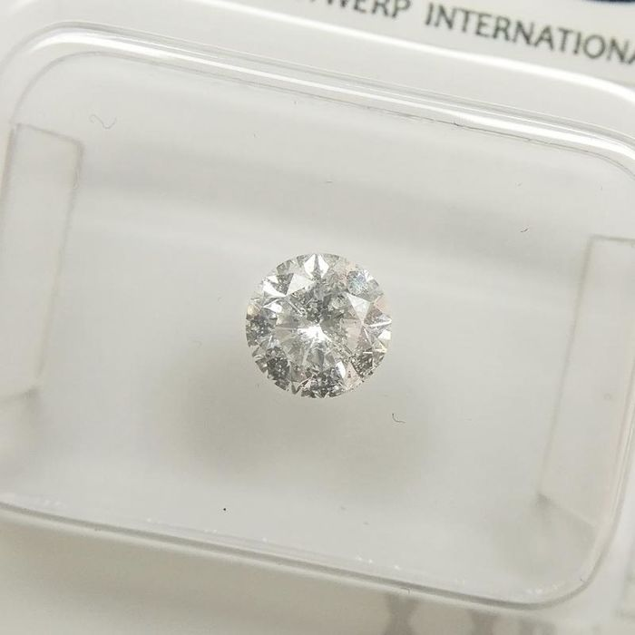 1 pcs Diamants - 0.51 ct - Rond - E - I1