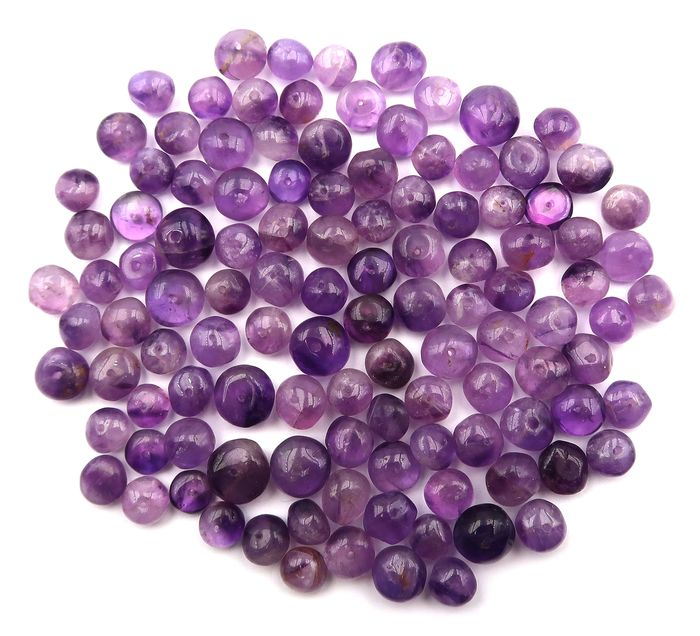 114 pcs Purple Amethyst - 231.10 ct