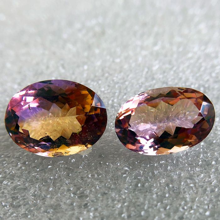 2 pcs  Ametrine - 17.10 ct
