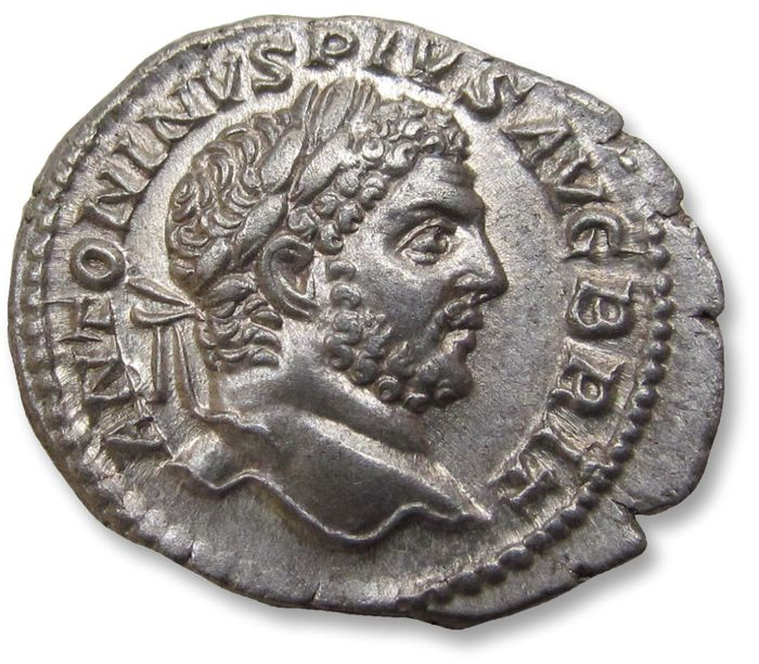 Roman Empire - AR denarius, Caracalla Rome mint 210-212 A.D. - LIBERALITAS AVG VIII, near mint state condition - Silver