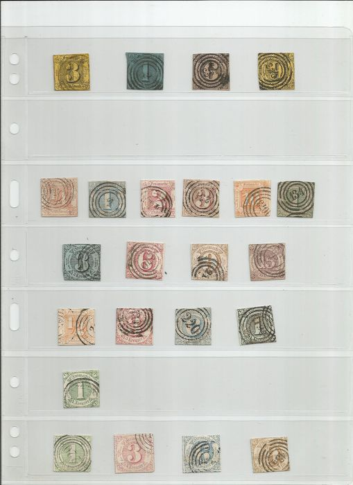 Thurn und Taxis 1852/1866 - small selection - Scott 4-63