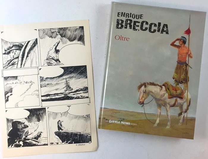 "Enrique Breccia - vol. ""Oltre"" + Tavola Originale Firmata ""Tormenta"" - Hardcover - First edition (2017)"