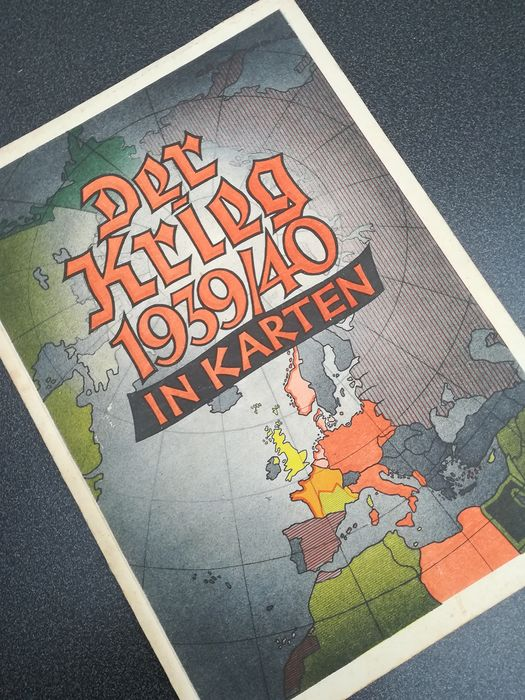 Germany - Third Reich world maps - Book, DER KRIEG IN KARTEN 1939/40 - 1940
