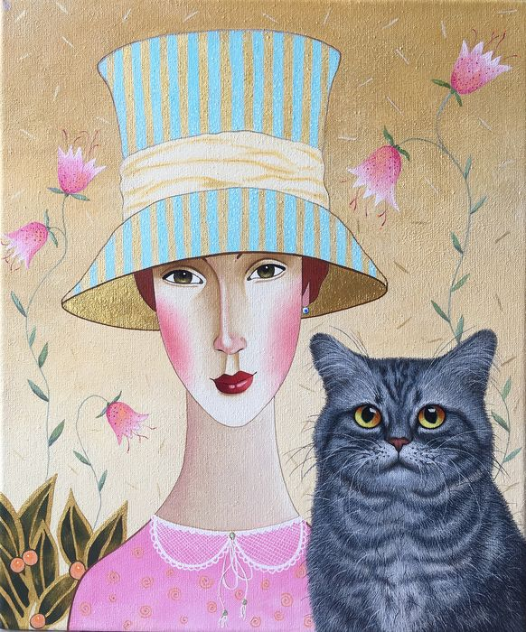 Darya Koltsova - Mary and the Cat.