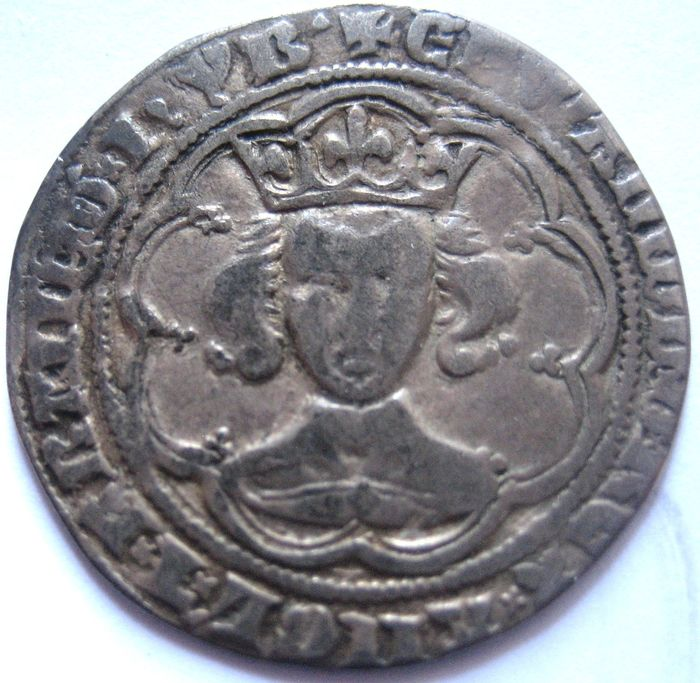 Great Britain - Groat Edward III 1327-1377 series Gg  - Silver