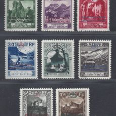 Liechtenstein 1932 - Official stamps - Michel D1/D8