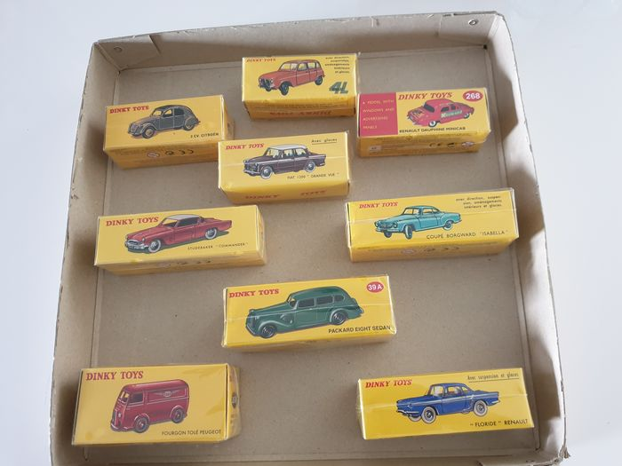 Atlas-Dinky - 1:43 - 9 pieces all still in sealed packaging