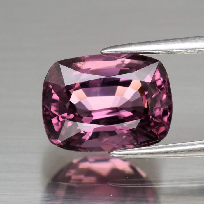 1 pcs lila, Rosa Spinell - 4.00 ct