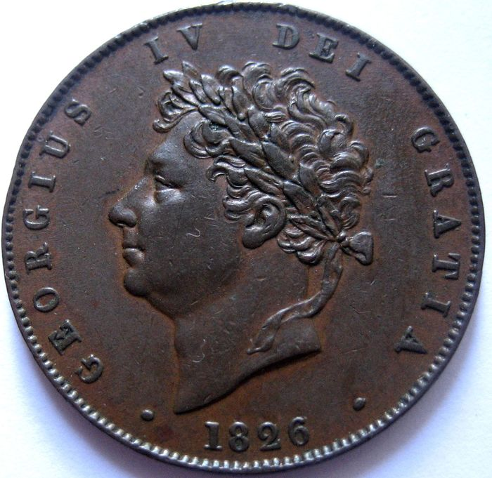 Great Britain - Half Penny 1826 George IV - Copper