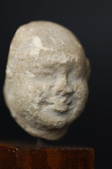 Head of a Buddhist monk - Stone - China - Tang Dynasty (618-907)