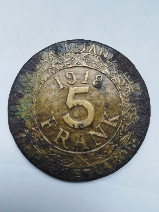 Belgique - Gand - 5 Franken 1918 'German Occupation WWII Token)