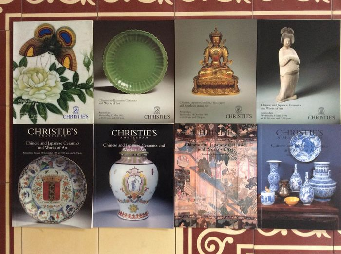 paperbacks (8 catalogi Christie's Amsterdam) - books with 100-th photos and descriptions - China and Japan - 1600-1998