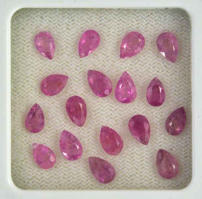 17 pcs  Rubellite tourmaline - 5.88 ct