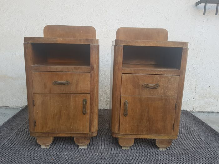 Decò couple of 40s bedside tables (2)