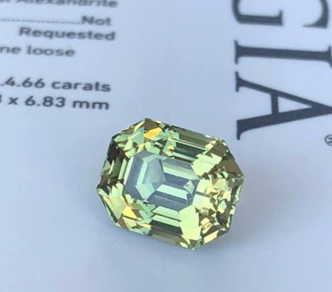 1 pcs Green Alexandrite - 4.66 ct