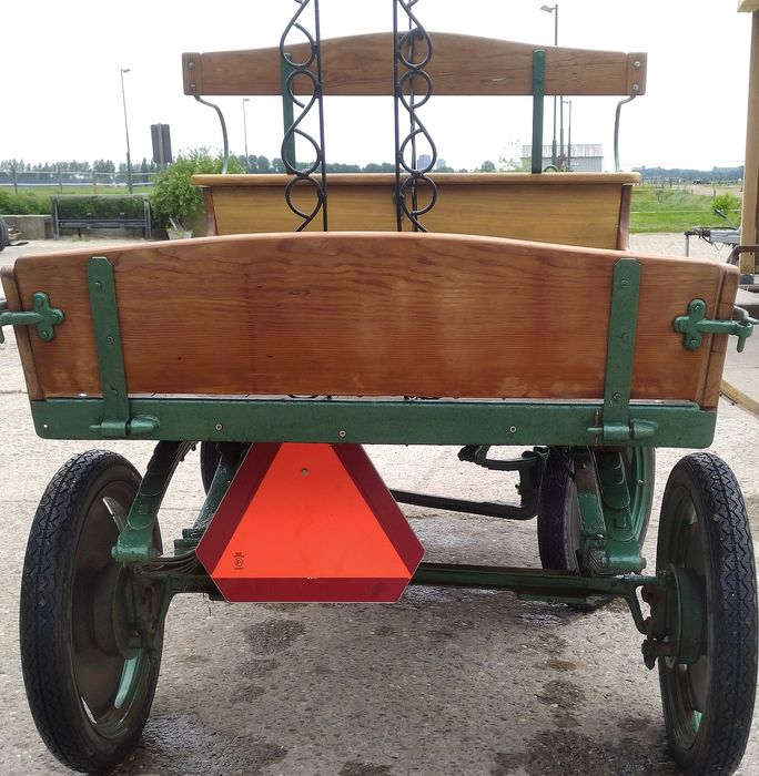 milk and dairy horse cart (1) - Wood