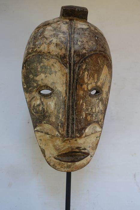 Mask - Wood - Ngil - fishing - Gabon