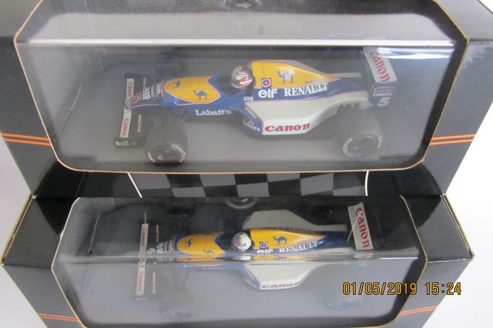 Onyx - Scale 1:43 - F1 Worldchampion Williams FW14B Renault RS3C/RS4 3.5 V10 - Original models from 1992