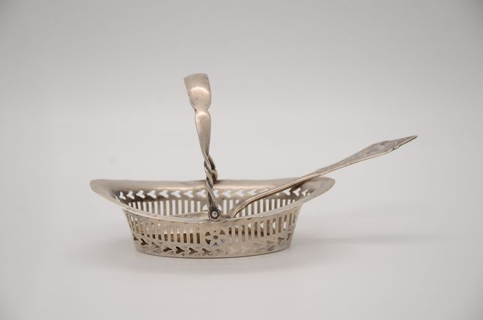 Spoon, Sweetmeat basket (2) - .800 silver, .925 silver - England and probably Austria - Early 20th century