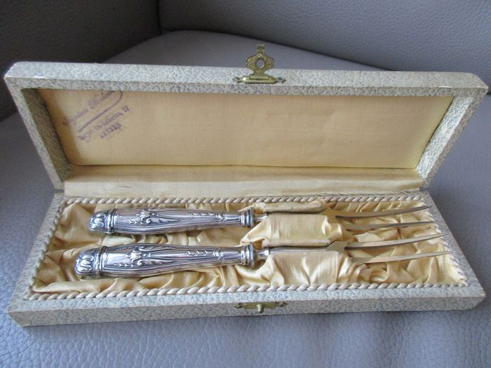 Meat Forks Set (2) - .800 silver - Germany - Late 19th century