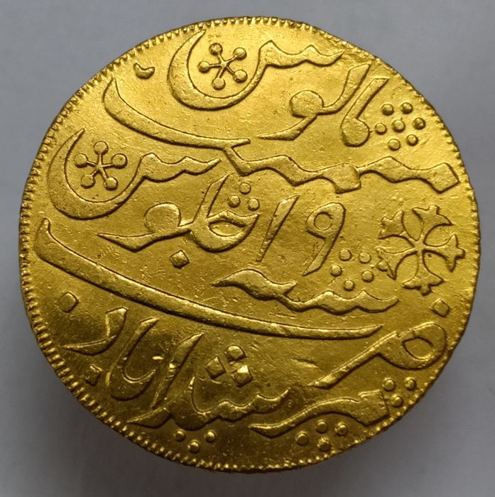 India British - 1 Mohur Mohur AH 1202 CE 1788 - Gold, Gold .996/1000