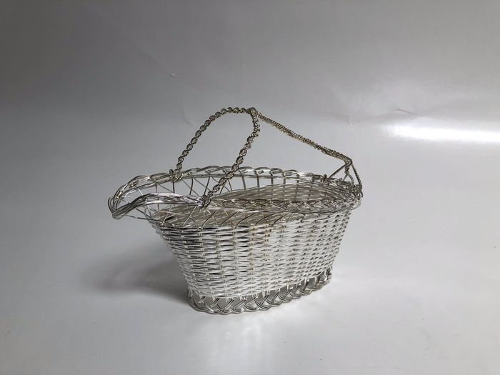 Wine Basket (1) - Silverplate - Belgium - Early 20th century
