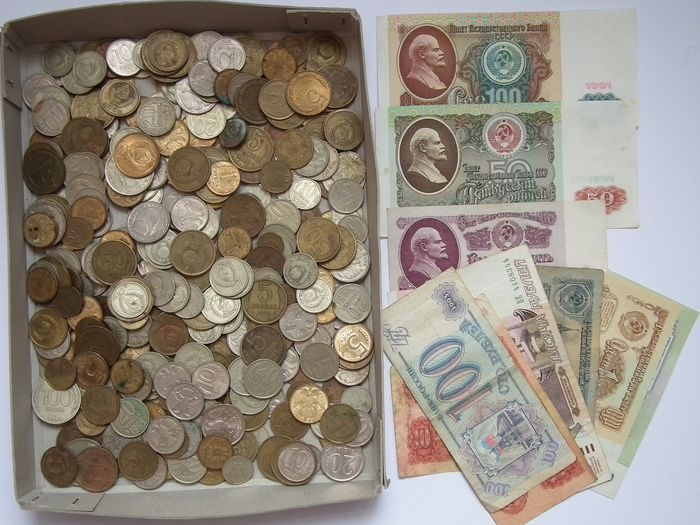 Russia - Set of 330 coins + 11 banknotes of the Soviet Union Rubel