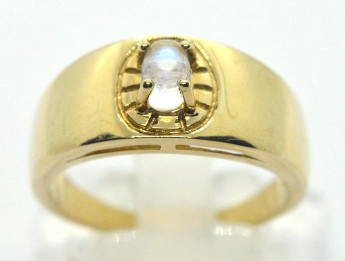 9 kt. Yellow gold - Ring - 0.35 ct Opal