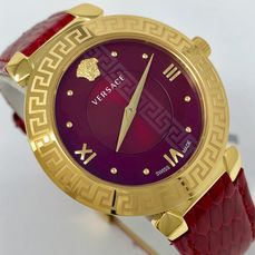 Versace - Watch Daphnis Red IP Gold Case Swiss Made - V16080017 - Dames - NEW