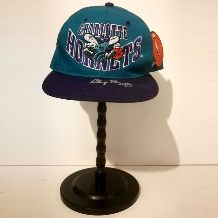 Charlotte Hornets - Basket Ball NBA - Alonso Mourning - chapeau