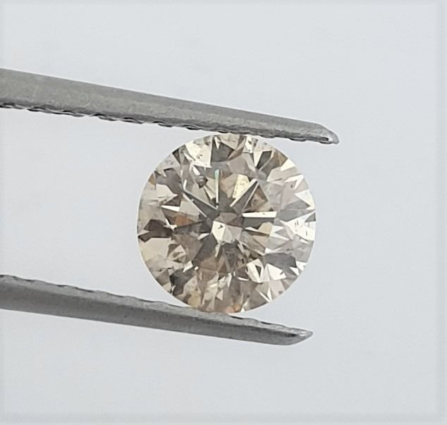 Diamante - 1.05 ct - Brilhante - Natural Fancy Champagne - SI2