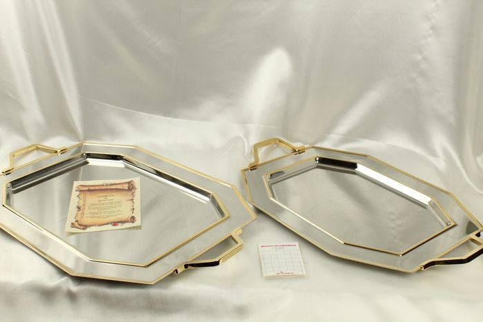 inoxpran - Serving tray (2) - Contemporary - Goldplate, Steel (stainless)