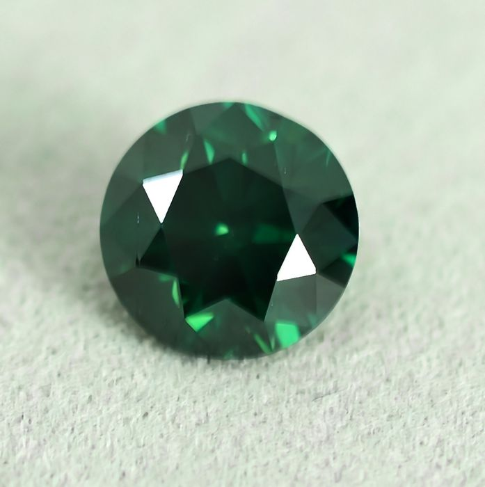 Diamond - 1.00 ct - Brilliant - Fancy Deep Bluish Green - Si2 - NO RESERVE PRICE