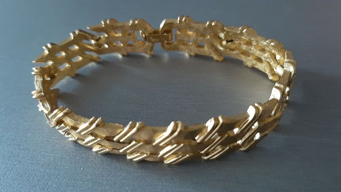 Crown Trifari Plaqué or - Bracelet